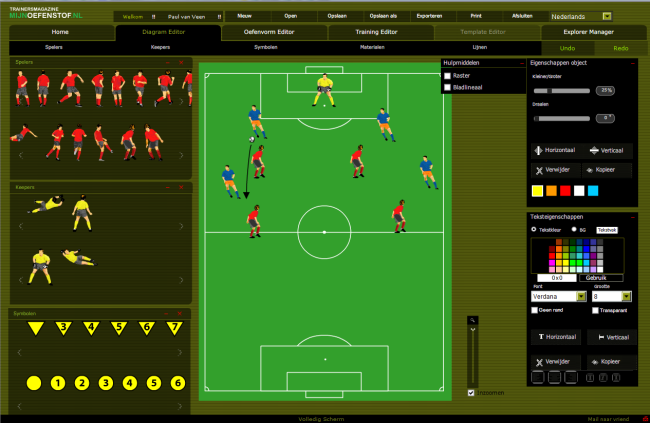 The exercise editor for soccer coaches for Gratis tekenprogramma interieur